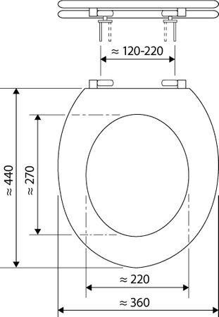 WC-Sitz Aveiro, weiß – Bild 3