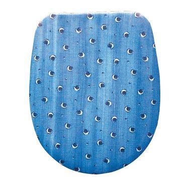 WC-Sitz Dekor Fossil blau