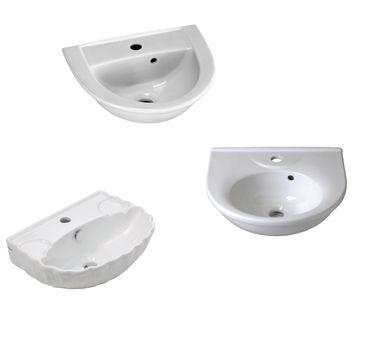 Handwaschbecken 45 - 47 cm, weiß – Bild 1