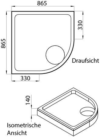 Wannenträger für Acryl-Brausewannen Teso und Sono – Bild 5