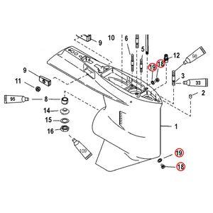 Quicksilver Ablassschraube für Getriebegehäuse 10-79953Q04 – Bild 2
