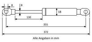 Gasdruckfeder mit Augenaufnahme - Länge u. Ausschubkraft nach Wahl – Bild 8