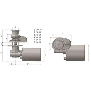 Lofrans' Ankerwinde X2 Low Profile 800W Aluminium für 6 oder 8 mm Kette – Bild 5
