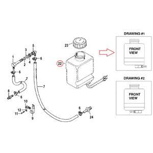 Ölbehälter Reservoir Assembly (Schlauchanschluss rechts) – Bild 3