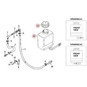 Ölbehälter Reservoir Assembly Schlauchanschluss links oder rechts – Bild 2