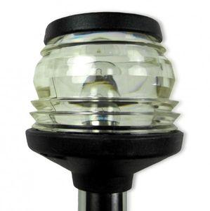 Lichtmast mit Rundumlicht 1 Meter schwarzes Gehäuse z. Decksbefestigung – Bild 2