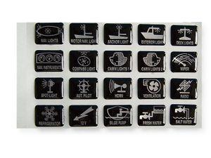 20 Symbole f. Schaltpaneel & Schalter