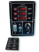 Schaltpaneel mit 3 Schalter + Batterietester