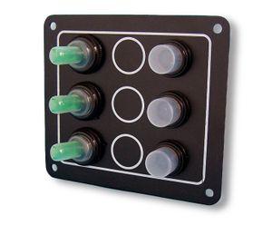 Schaltpaneel mit 3 Schalter wasserdicht