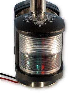 Leuchte 360° schwarz m. Steuer-/Backbordlicht Mast 20cm – Bild 2