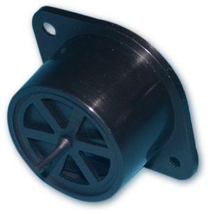 Stopfenbasis mit Membrane Kunststoff schwarz D 35mm