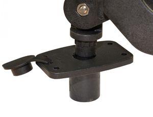 Rutenhalter mit Rudergabelbefestigung ABS schwarz – Bild 4