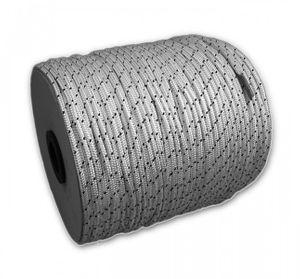 2 Meter Polyesterleine 10 mm weiß mit schwarzem Kennfaden – Bild 2