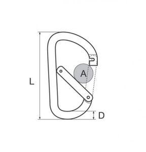 Karabinerhaken Flat 5 mm Aluminium Farbe rot – Bild 2