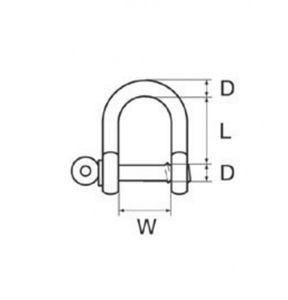 Schäkel gerade verzinkt 6 mm – Bild 3