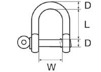 Schäkel gerade verzinkt 8 mm – Bild 2