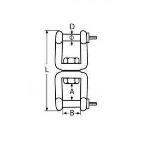 Wirbelschäkel, Gabel-Gabel 5 mm – Bild 2