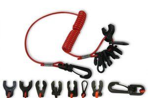 Sicherheitskordel für Notstopschalter mit 7 x Schlüssel für Aussenborder – Bild 1