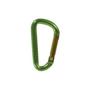 Karabinerhaken Flat 5 mm Aluminium Farbe grün – Bild 1