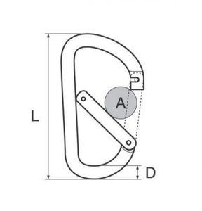 Karabinerhaken Flat 6 mm Aluminium Farbe rot – Bild 2
