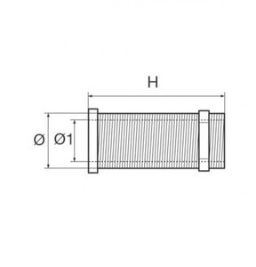 Lenzöffnungsdurchlass Kunststoff D 22,7 mm Länge 62 mm Farbe weiß – Bild 2