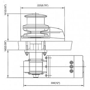 Ankerwinde 1000W Edelstahl 12V mit Verholspill – Bild 2