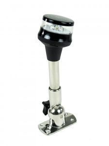 Klappbarer LED-Lichtmast GEMINI Edelstahl 23cm schwarz 360° – Bild 2