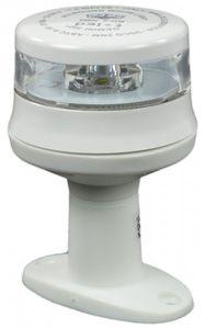 LED-Ankerlaterne GEMINI mit Fuß Gehäusefarbe weiß