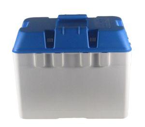 Batteriekasten Combi 324 x 184 x 207 weiß/blau – Bild 1