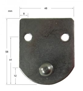 Befestigungsplatte für Gasdruckfeder 58 x 48 mm – Bild 2