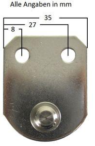 Befestigungsplatte für Gasdruckfeder 44 x 35 mm – Bild 2