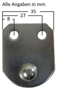Befestigungsplatte für Gasdruckfeder 35 x 44 mm – Bild 3