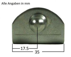 Befestigungsplatte für Gasdruckfeder 90° – Bild 2