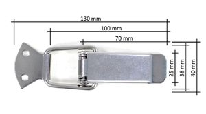 Hebelverschluss Edelstahl 76 mm x 40 mm  – Bild 3