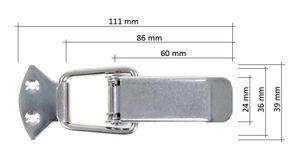 Hebelverschluss 66 mm x 36 mm  – Bild 3