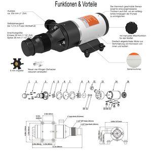 SEAFLO ® Zerhackerpumpe 24 V Macerator Pumpe 45 L/min – Bild 2