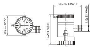 SEAFLO ® Bilgepumpe 750 Bilge Pumpe 2840 L/h – Bild 2