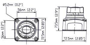 SEAFLO ® Batterie Hauptschalter 1250 A Aufbau Batterie-Hauptschalter – Bild 4
