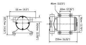 SEAFLO ® selbstansaugende Bilge Pumpe 1800 L/h Deckswaschpumpe – Bild 3