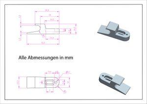 Federschnäpper Mini-Latch Druckverschluß – Bild 4