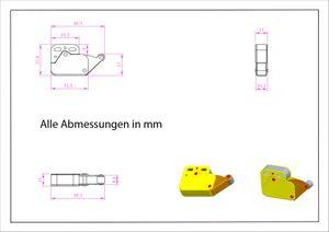Set 10 x Federschnäpper Mini-Latch Druckverschluß – Bild 3