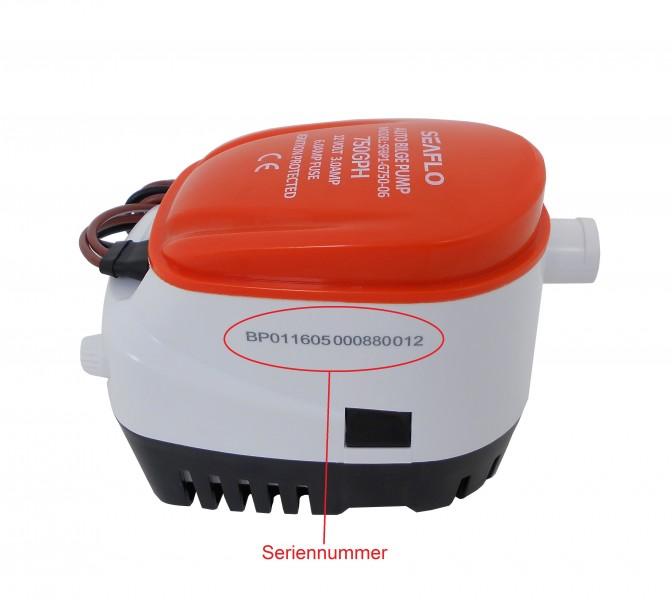 Seaflo ® Automatique duschpumpensys 12 V Sahara 750 duschpumpe bilgepumpe lid19490