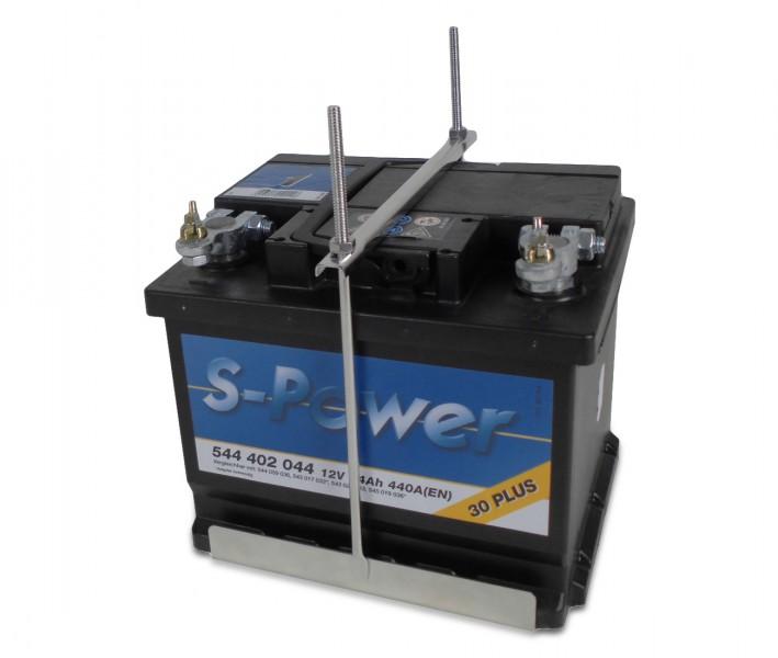 Edelstahl Batteriehalterung variabel Batteriehalter Batteriebefestigung LID19497