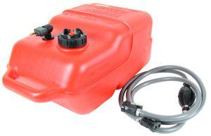 12 Liter Kraftstofftank Big Joe + Yamaha-Anschluss + 2m Kraftstoff-Schlauch mit Pumpball – Bild 2