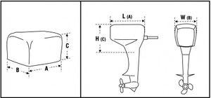 Abdeckhaube für Außenbordmotor Gr. 1 – Bild 2