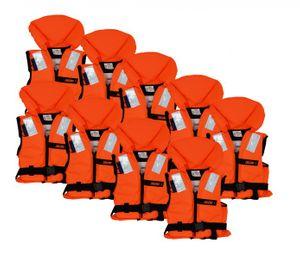 Neun Lalizas 100N Feststoff-Rettungsweste 30-40 kg ISO 12402-4 zertifiziert
