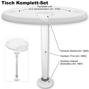 Tisch oval mit Getränkehaltern Ausführung nach Wahl – Bild 13