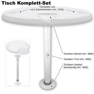 Tisch oval mit Getränkehaltern Ausführung nach Wahl – Bild 16