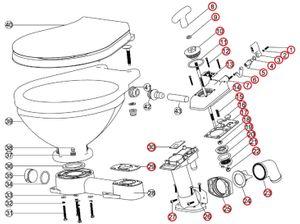 Bordtoilette manuell oder elektrisch Größenwahl  – Bild 16
