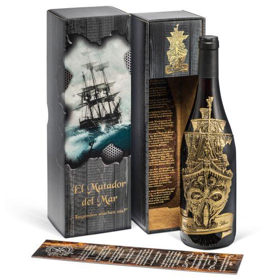 El Matador del Mar - Rotwein (0,75 l) in bedruckter Geschenkbox